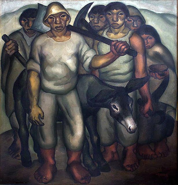 Oswaldo Guayasamín, Os trabalhadores, 1942.