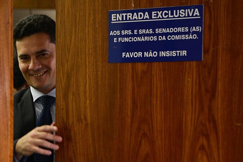 Sérgio Moro participa de sessão no Senado Federal, em 2015