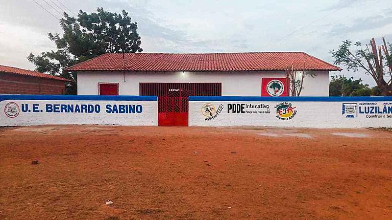 Unidade Escolar Bernardo Sabino, no assentamento Palmares, em Luzilândia, no Piauí