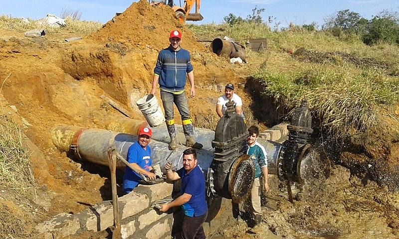 Reparos na barragem de Águas Claras