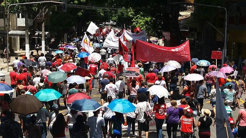 Cerca de 2 mil militantes se reuniram no bairro Cidade das Mangueiras