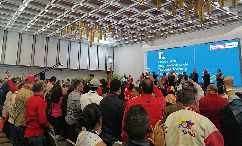 Cerca de 60 delegações estrageiras particiam de evento de solidariedade, em Caracas, entre os 29 de 31 de agosto