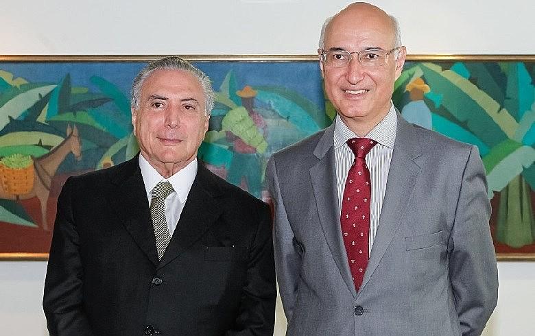 Michel Temer (PMDB) e o Presidente do Tribunal Superior do Trabalho (TST), Ives Gandra Filho