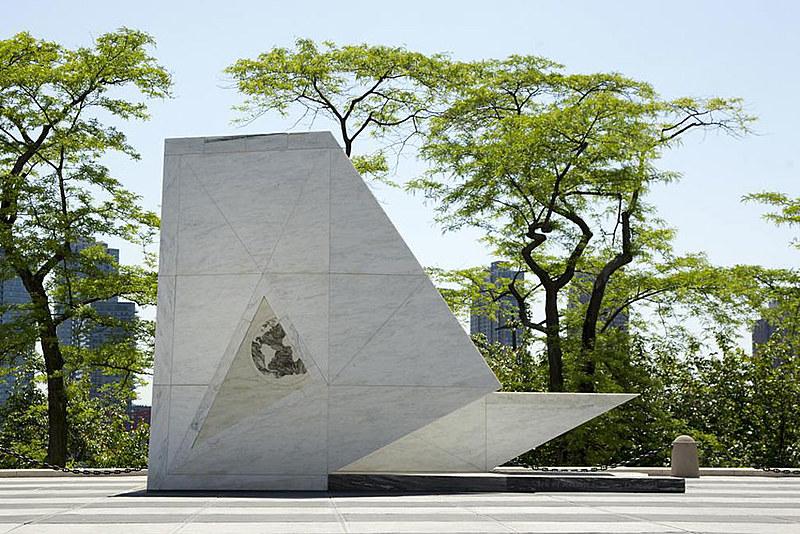 Memorial Permanente, localizado na Praça dos Visitantes, na sede da ONU