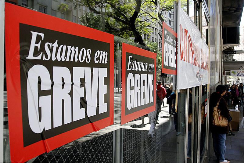 Greve de bancários em Porto Alegre (RS)