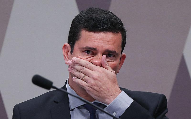 Ministro da Justiça Sergio Moro durante depoimento na CCJ dp senado