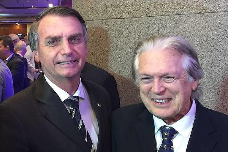 O presidente da República, Jair Bolsonaro, e o presidente do PSL, deputado Luciano Bivar (PE)