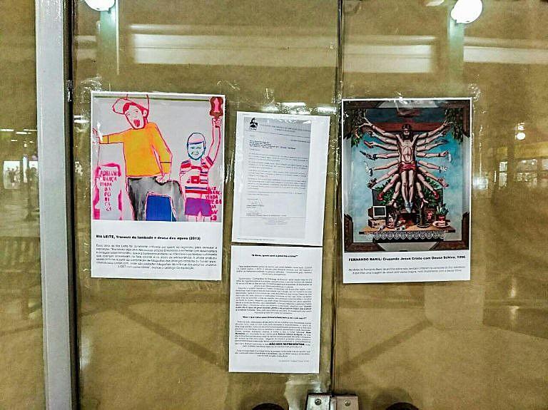 Estudantes da Unimep Piracicaba expõem obras censuradas pelo Santander Cultural, após boicote do Movimento Brasil Livre (MBL)