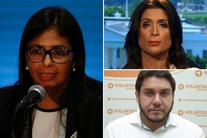 "A vice-presidenta da Venezuela, Delcy Rodríguez, acusa o partido do opositor Juan Guaidó de ""negociar soberania da Venezuela""."