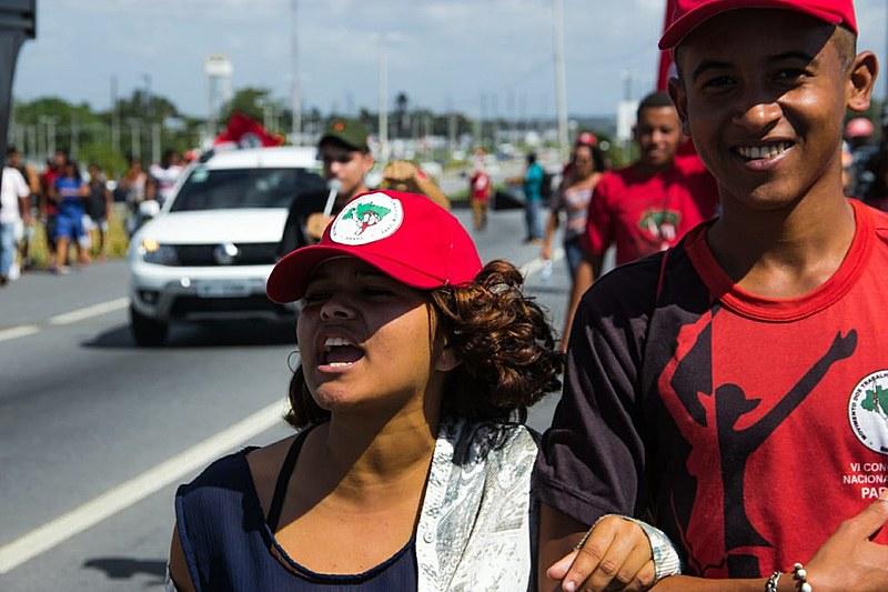 MST faz manifestação em João Pessoa