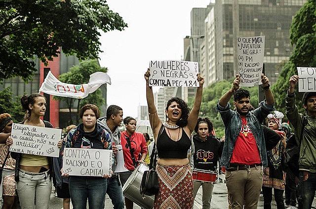 Marcha da consciência negra em São Paulo (SP)