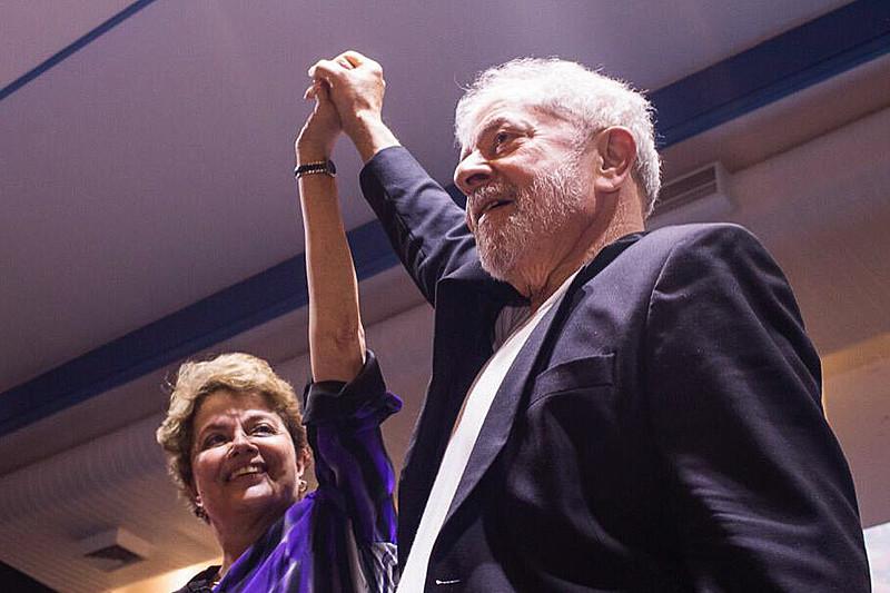 Lula e Dilma juntos durante a última convenção do Partido dos Trabalhadores, realizada em novembro, em São Paulo (SP)