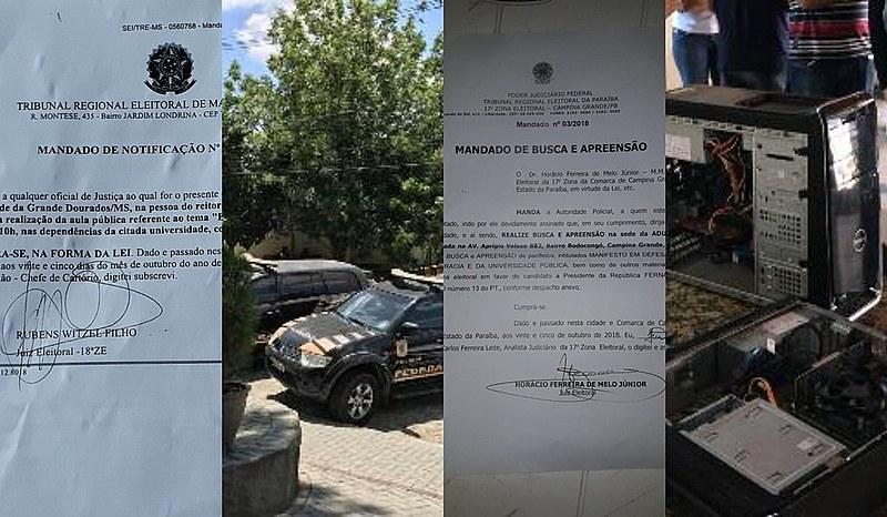 Polícia federal invadiu nesta manhã a sede de sindicato docente em Campina Grande, Paraíba