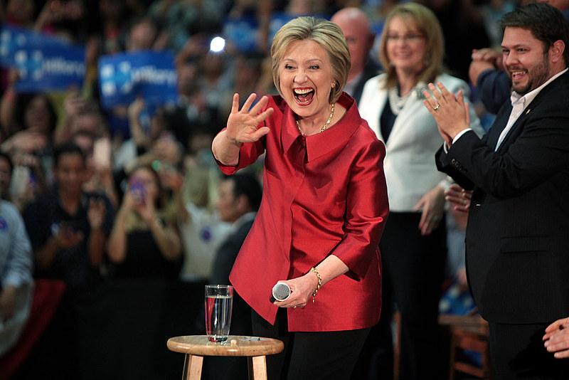 """""""Hoje atingimos um marco"""", afirmou a democrata, em referência a candidatura"""
