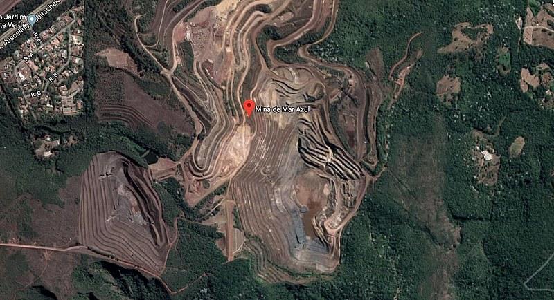 Barragem Mina Mar Azul em Macacos (MG) possui cerca de 3 milhões de metros cúbicos de rejeitos de mineração