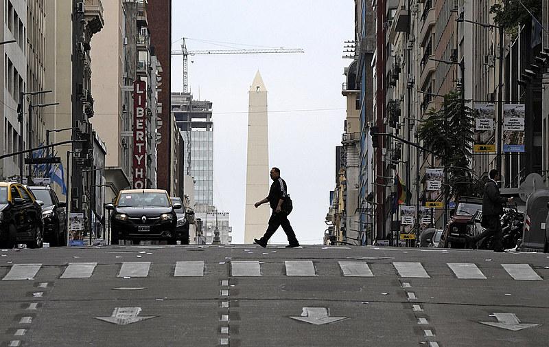 Paralisação deixou ruas vazias na região central de Buenos Aires