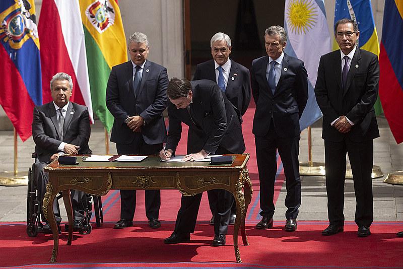 Proposta de formação do bloco foi oficializada em Santiago do Chile por representantes de oito países