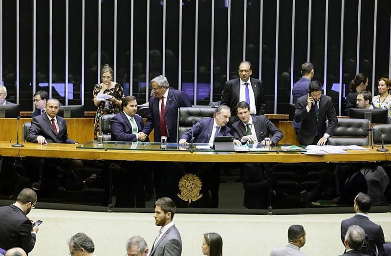 Plenário da Câmara dos Deputados durante sessão extraordinária desta terça-feira (4)