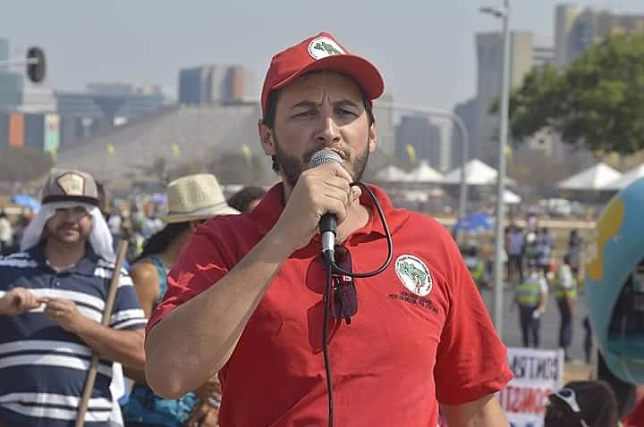 Nei Zavaski, uma das lideranças do Movimento dos Trabalhadores Rurais Sem Terra (MST) em Minas Gerais