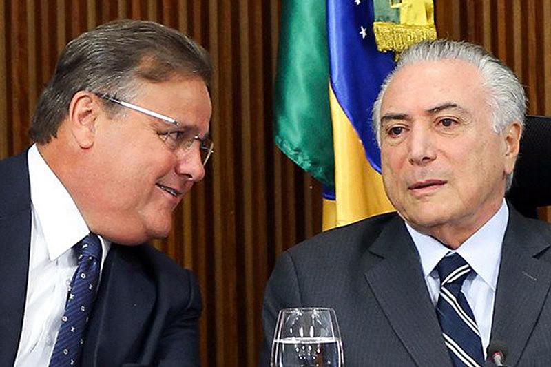 Geddel e Temer, que deixou a Secretaria de Governo acusado de fazer pressão sobre um empreendimento imobiliário em Salvador