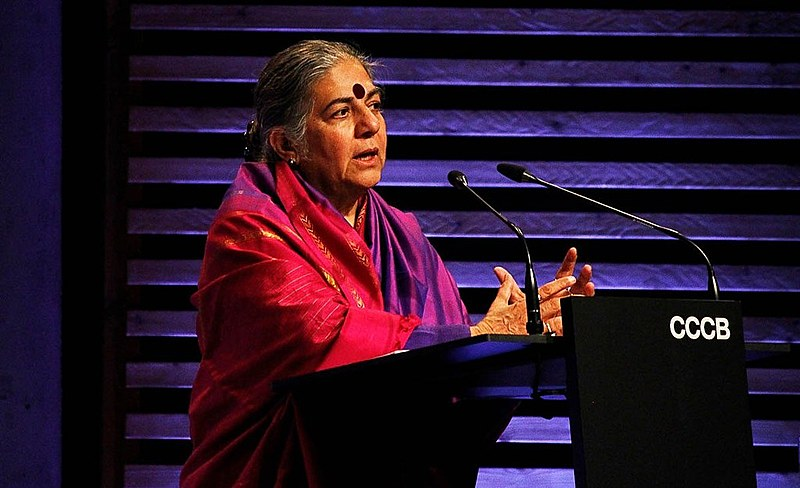 Vandana Shiva, filósofa, física e vencedora do Prêmio Right Liverhood