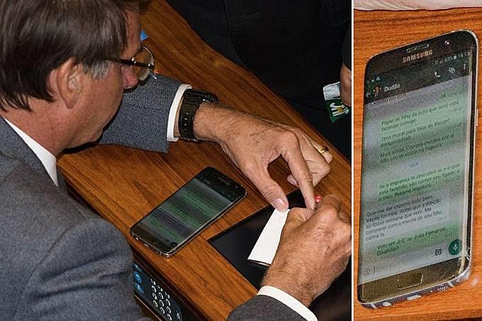Imagem que motivou processo de Jair Bolsonaro e Eduardo Bolsonaro contra a Revista Fórum