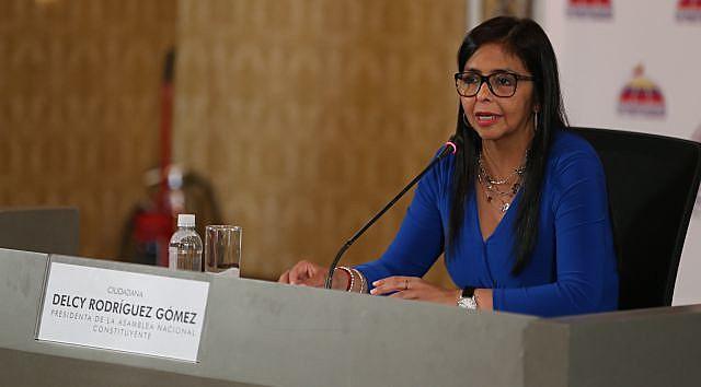 Delcy Rodríguez ainda questionou a legalidade das sanções do governo estadunidense