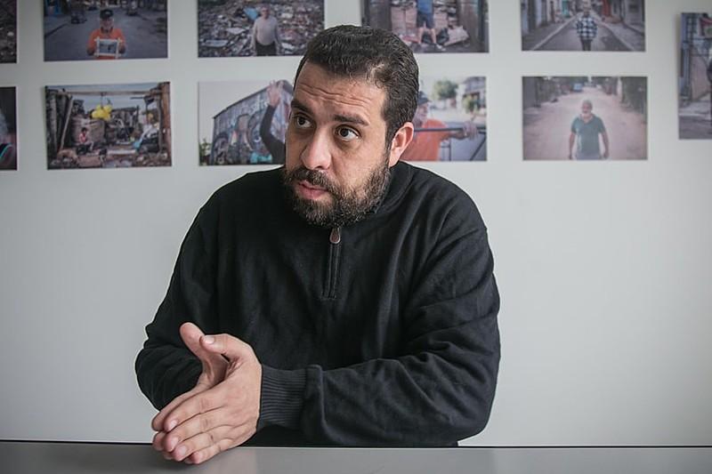 Conta denunciada utilizava a identidade visual da campanha de Guilherme Boulos e Luiza Erundina para aplicar golpe