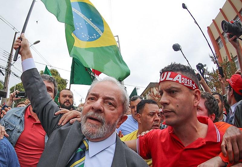 Lula participa de ato político em Curitiba, em 2017