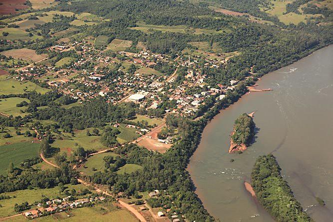 Porto Mauá, fronteira com Argentina banhada pelo Rio Uruguai, será uma das cidades mais atingidas com barragem