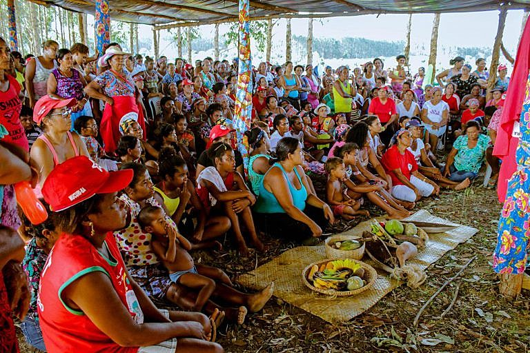 Mulheres se organizam no campo durante Jornada Nacional de Luta das Mulheres Sem Terra