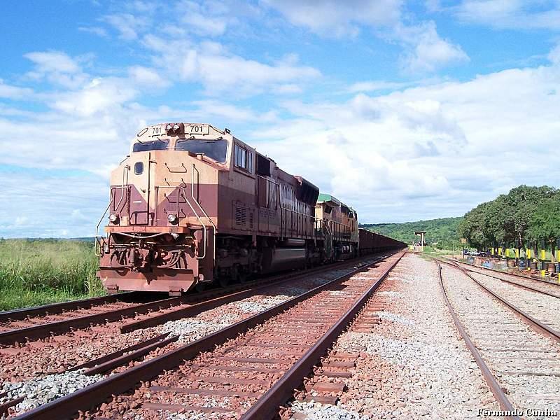 Trem de minério da Estrada de Ferro Carajás
