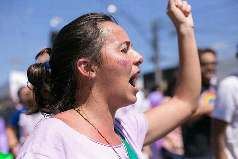 Clara é uma das Margaridas que viajou do RN até Brasília para Marchar