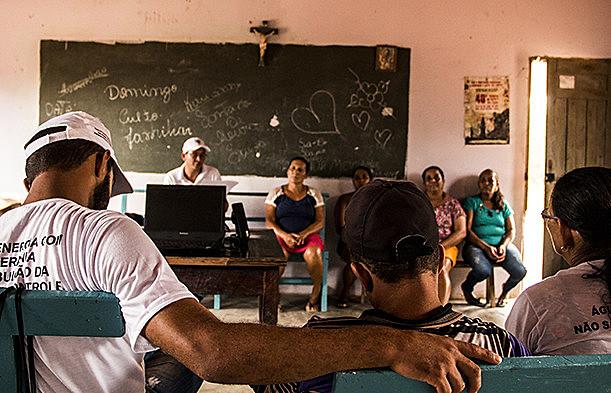 Reunión de grupo de base del MAB en la región afectada del Río Formoso