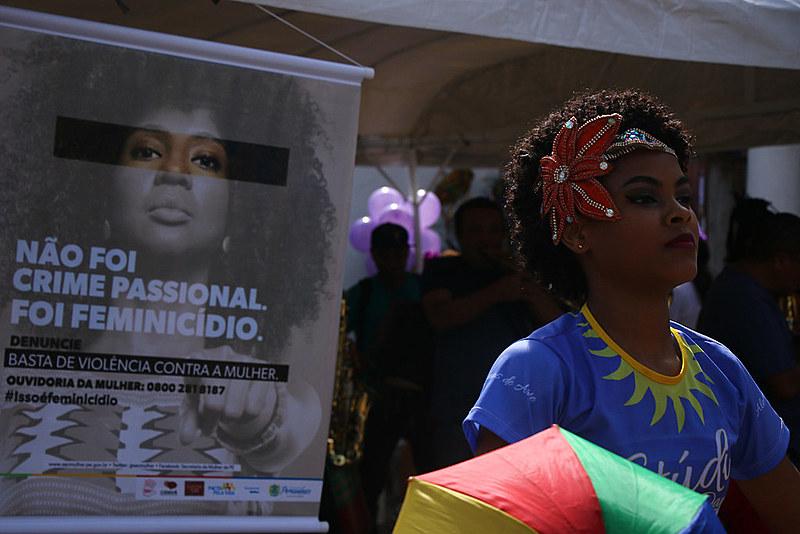 Ação Basta de Violência Contra a Mulher em Olinda, Pernambuco