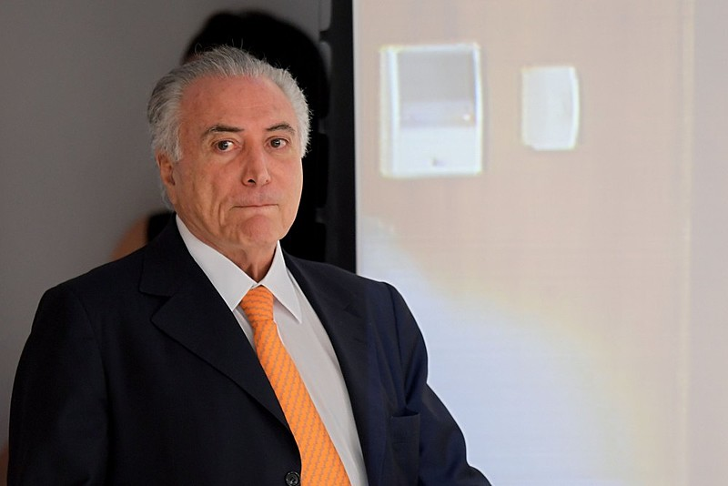 Presidente não eleito Michel Temer