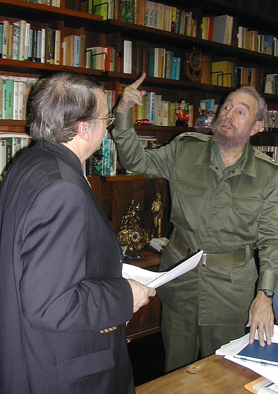 Ignacio Ramonet e Fidel Castro