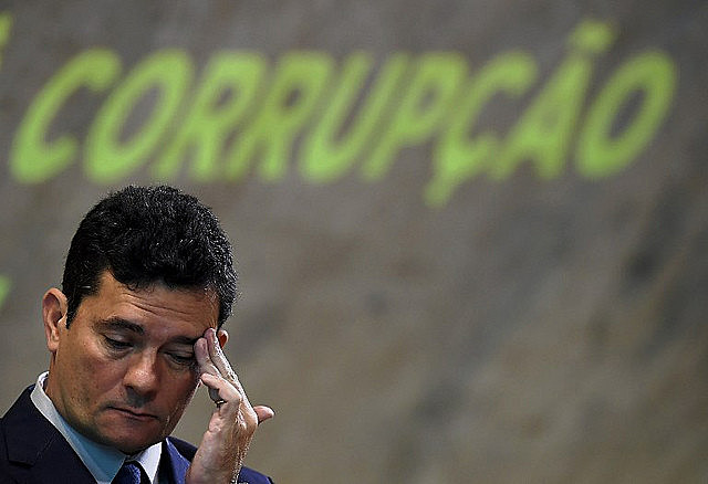 Sergio Moro attends anti-corruption event in Rio de Janeiro in November 2018