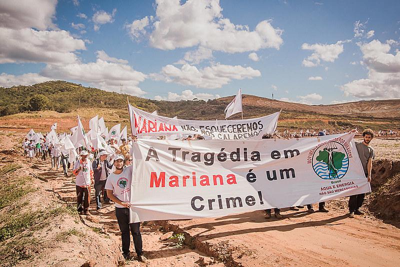 Atingidos e apoiadores sairão da cidade de Regência (ES) e chegarão em Mariana (MG) no dia 2 de novembro, onde realizam um encontro até o dia 5