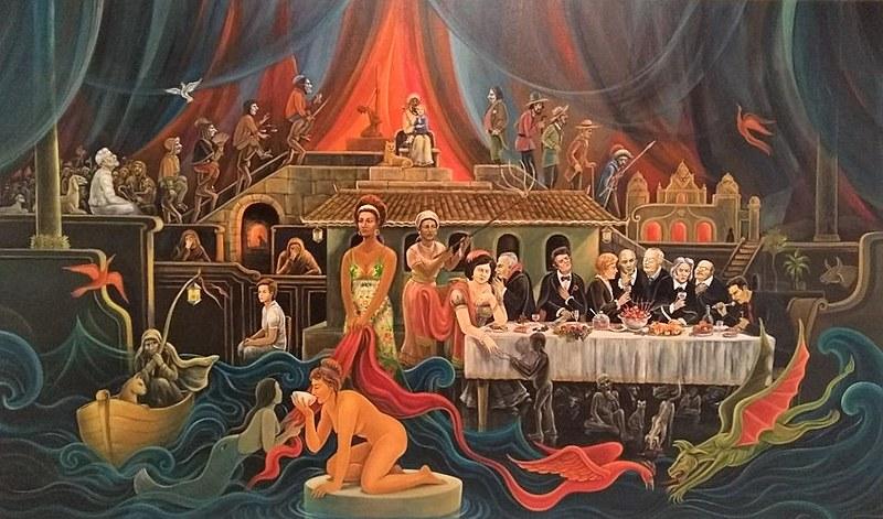 O quadro foi lançado ao público na segunda, 27, no Sesc Praia em João Pessoa.