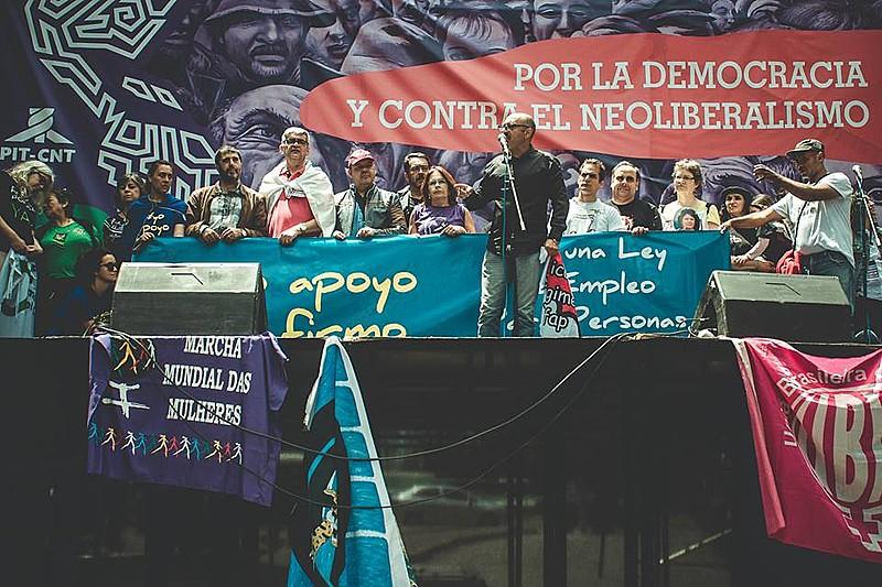 No primeiro dia da Jornada, movimentos denunciaram o retrocesso dos direitos trabalhistas no Brasil e na Argentina