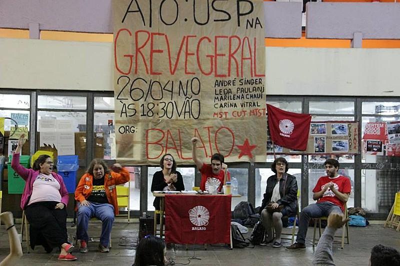 Ato aconteceu nesta quarta-feira (27), na Faculdade de Filosofia, Letras e Ciências Humanas da USP