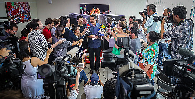 Haddad spoke with reporters on Wednesday