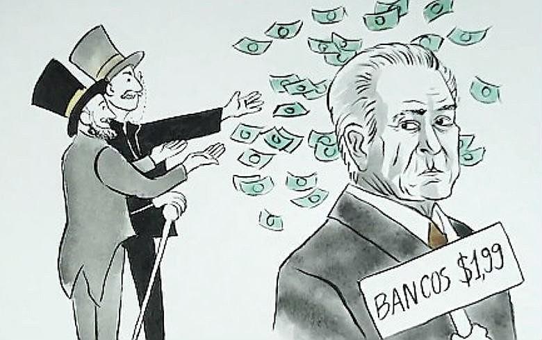 Em retribuição ao apoio dado pelos banqueiros ao golpe do impeachment, Temer quer acabar com os bancos públicos