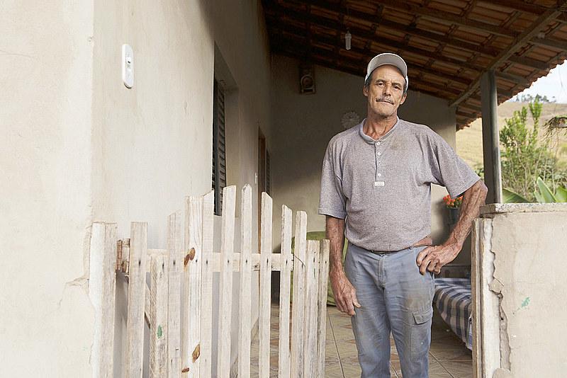 João Banana mora em Paracatu de Baixo e é um dos milhares de atingidos pela lama da Samarco