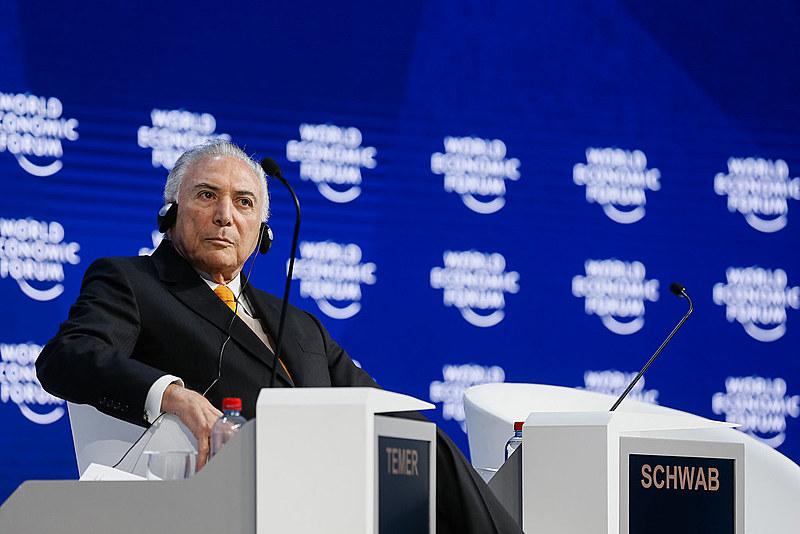 Temer em sessão plenária do Fórum Econômico Mundial 2018
