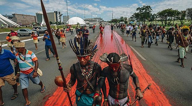 Around 180 Guarani and Kaiowá indigenous families were attacked by private security guards in Dourados, Mato Grosso do Sul, on Jan. 2