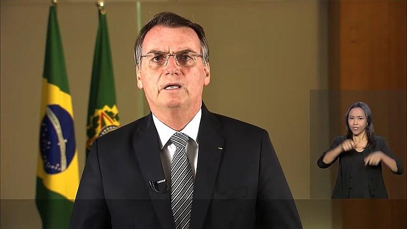 Pronunciamento de Bolsonaro foi transmitido em cadeia nacional de rádio e televisão
