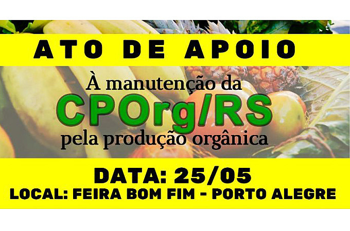 Manifestação contra medida de Bolsonaro que põe em risco o trabalho dos agricultores orgânicos será na Feira Agroecológica do Bom Fim
