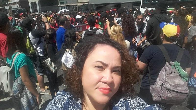 Cida Alves no Ato de chamamento para a Assembleia, ocorrido no dia 23